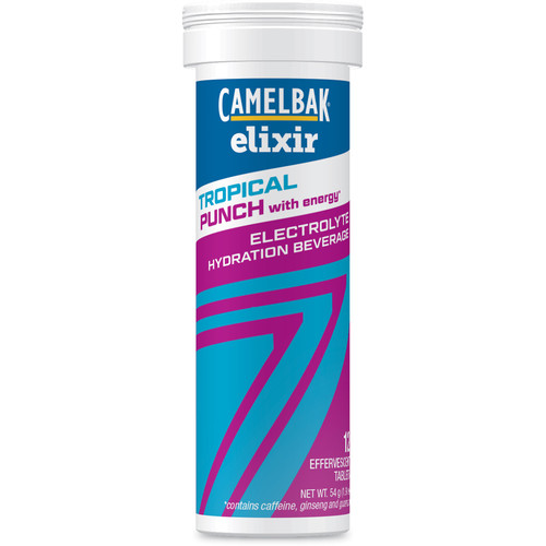 CAMELBAK Elixir Tropical Punch with Caffeine Electrolyte Hydration Beverage (12 Tablets)