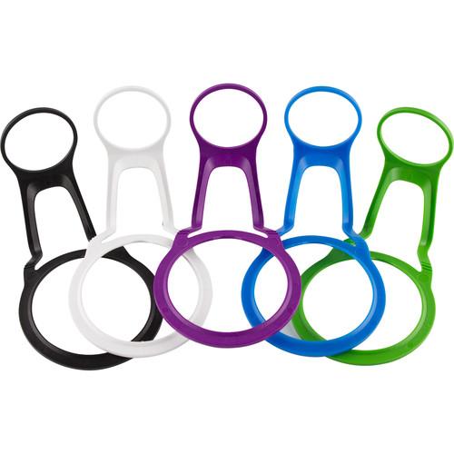 CAMELBAK Tethers for Chute Water Bottles (5-Pack, Black/White/Green/Blue/Purple)