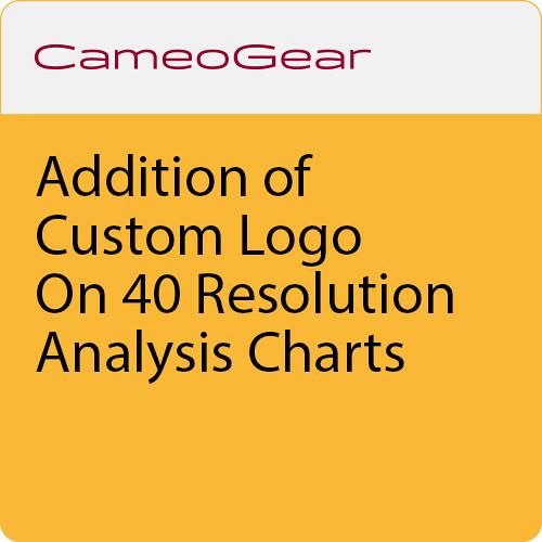 CAMEOGEAR Addition Of Custom Logo On 40 Resolution Analysis Charts