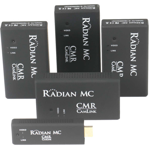 Camera Motion Research Radian MC - Multicast Wireless HDMI Set, 1 Transmitter, 4 x Receivers