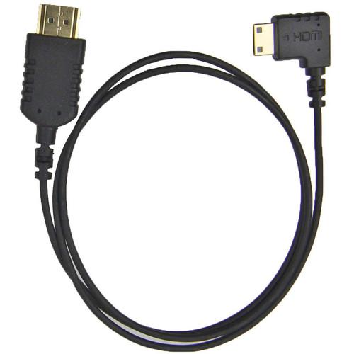 """Camera Motion Research UFAR90C30 Right-Angle Mini-HDMI to HDMI Cable (31"""")"""
