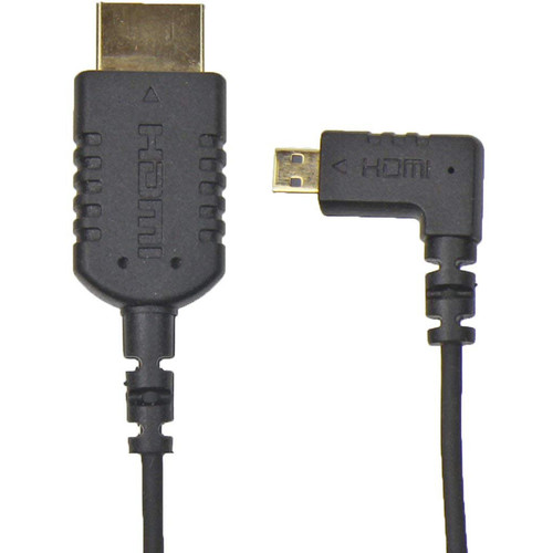 """Camera Motion Research UFAR90D15 Thin Right-Angle Micro-HDMI to HDMI Cable (15"""")"""