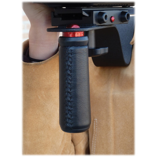 CameraRibbon Handcrafted Leather Handle Grip for CameraRibbon ENG Style Shoulder Rigs (Black)