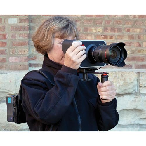 CameraRibbon Shoulder Rig Camera Support with Anton Bauer Battery Plate for Blackmagic Cinema or 4K Camera