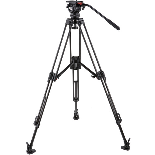 Camgear DV6P-CFMLS75 75mm Tripod System with Mid-Level Spreader