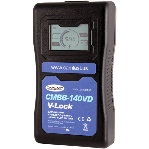 CAMLAST 140Wh 14.8V V-Mount Battery with LCD Display for Professional Camcorders & VTRs