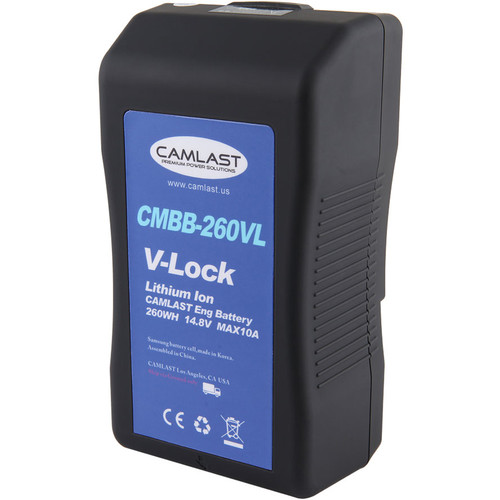 CAMLAST 260Wh 14.8V V-Mount Battery for Professional Camcorders & VTRs