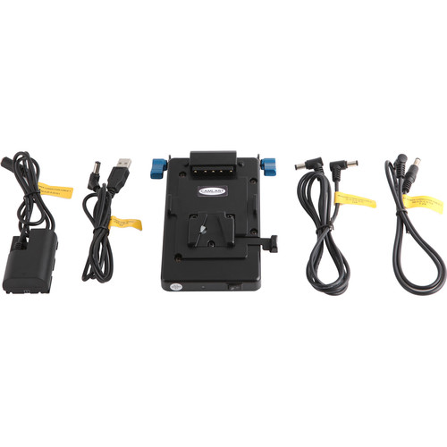 "CAMLAST V-Mount Dummy Battery Adapter Kit with USB for Canon 5D (16"")"