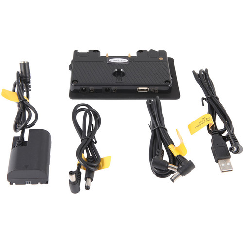 "CAMLAST Gold Mount Dummy Battery Adapter Kit with USB for Canon 5D (16"")"