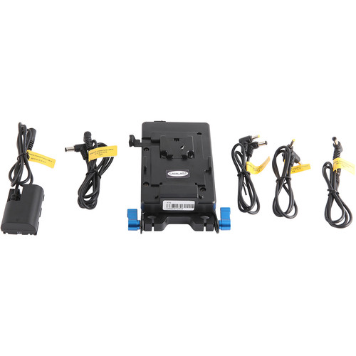 CAMLAST V-Mount Plate with 5V Coax/7.2V/12V Cables for Select Canon & Blackmagic Cameras