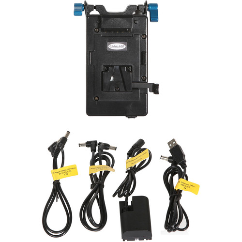 CAMLAST V-Mount Plate with 5V USB/7.2V/12V Cables for Select Canon & Blackmagic Cameras