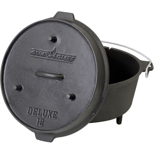 "Camp Chef 12"" Cast Iron Deluxe Dutch Oven"