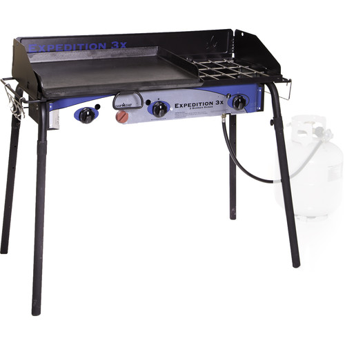 Camp Chef Expedition 3X Three-Burner Stove with Griddle