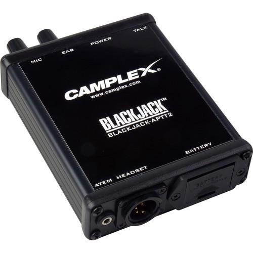 Camplex Push-to-Talk Belt-Clip Active Headset Adapter for Blackmagic ATEM Camera Converter (4-Pin XLR, Male)
