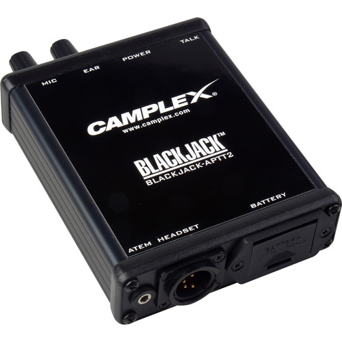Camplex Push-to-Talk Belt-Clip Active Headset Adapter for Blackmagic ATEM Camera Converter (4-Pin XLR, Male)