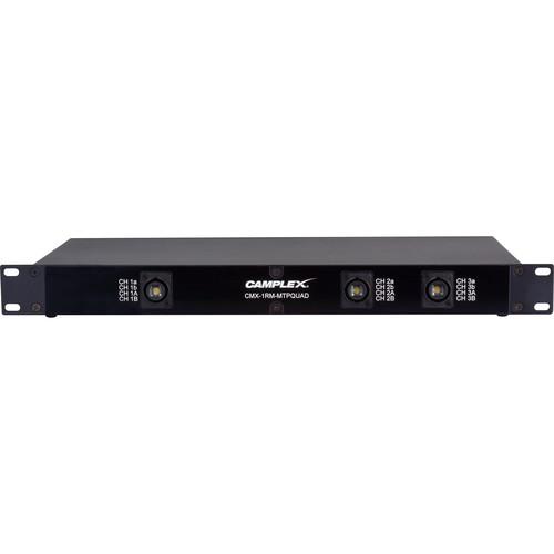 Camplex OpticalCON MTP NO12FDW-A to 3 SM QUAD NO4FDW-A Breakout Box (1 RU)