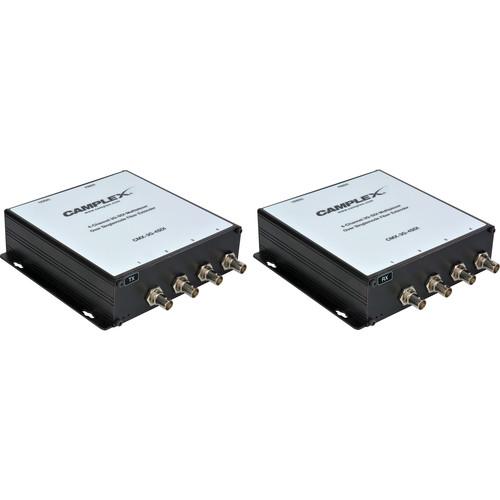 Camplex Four-Channel 3G-SDI Multiplexer over ST Singlemode Fiber Extender Kit