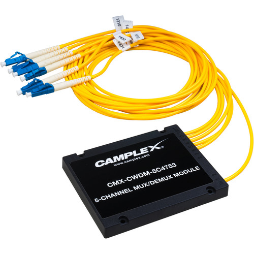 Camplex 5-Channel CWDM Multiplexer/Demultiplexer With LC Fiber Pigtails (3')