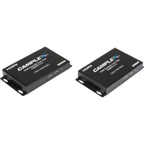 Camplex 4K/2K HDMI 2.0 over Fiber 18Gbps HDCP 2.2 Extender with RS-232