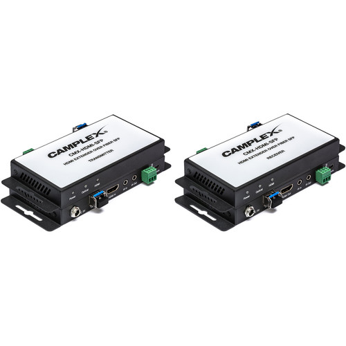 Camplex HDMI 2.0 over Single Fiber SFP Extender with Bidirectional IR and RS-232