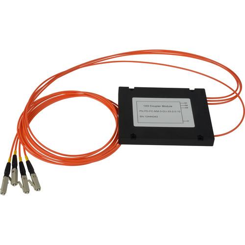 Camplex Multimode LC Fiber Optic 1x3 Splitter Cable (3')