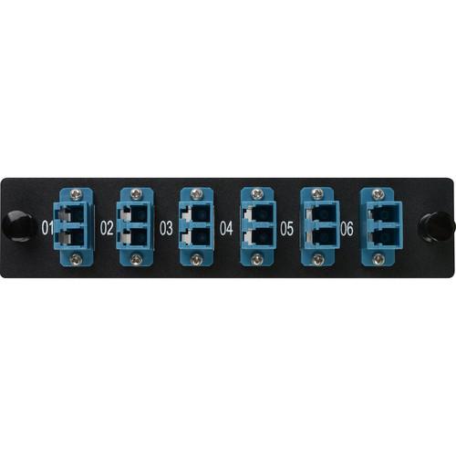 Camplex 6-Port LC Duplex Singlemode Fiber Adapter Plate Module with Ceramic Connectors (Blue)