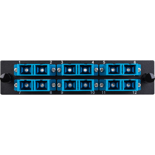 Camplex 6-Port SC UPC Duplex Singlemode Fiber Adapter Plate Module with Ceramic Connectors