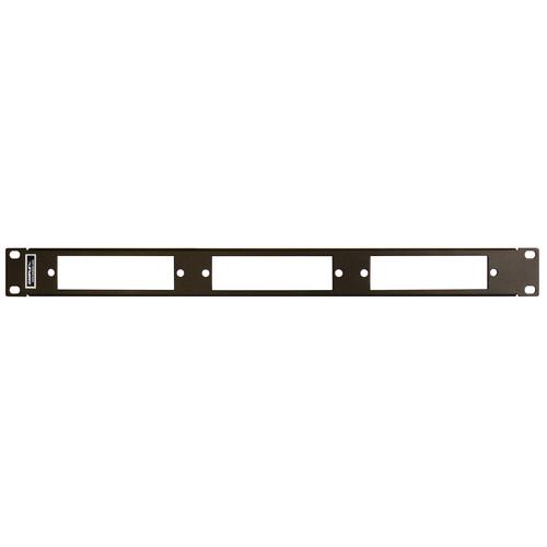 "Camplex 19"" Rack Mount Panel for 3 Fiber Adapter Modules"