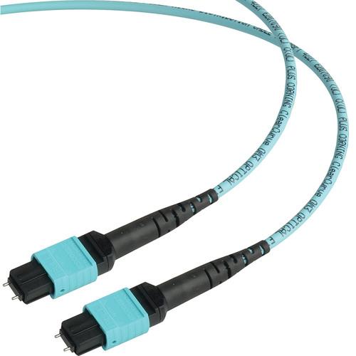 Camplex MTP Elite PC Male to Male 12-Fiber OM3 Multi-Mode Cable (Aqua, 3')