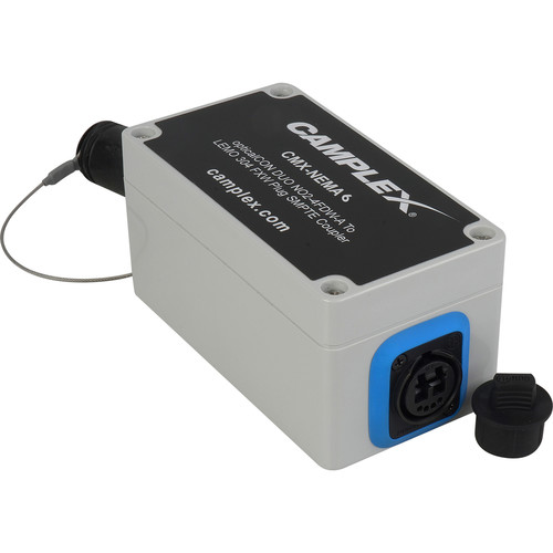 Camplex NO2-4FDW-A OpticalCON DUO to 2 SC Female & 4-Pin XLR Power Singlemode Breakout Adapter Box