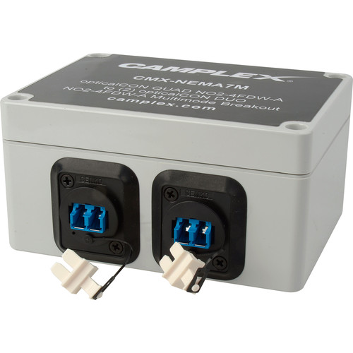 Camplex NO4FDW-A OpticalCON QUAD to 2 Duplex LC Female Multimode Breakout Adapter Box