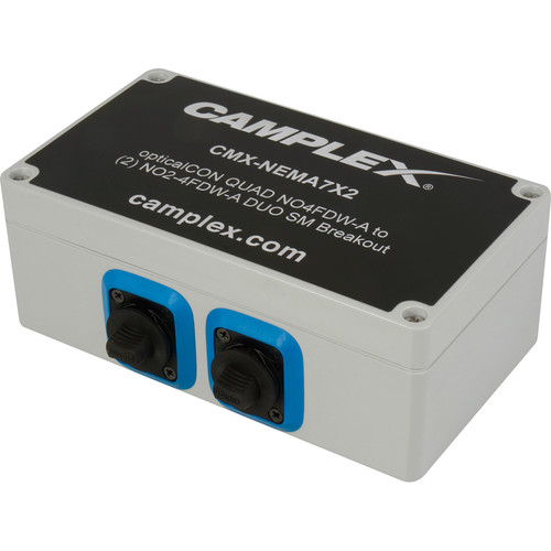 Camplex NO4FDW-A OpticalCon QUAD to 2 NO2-4FDW-A OpticalCon DUO Singlemode Breakout Adapter Box