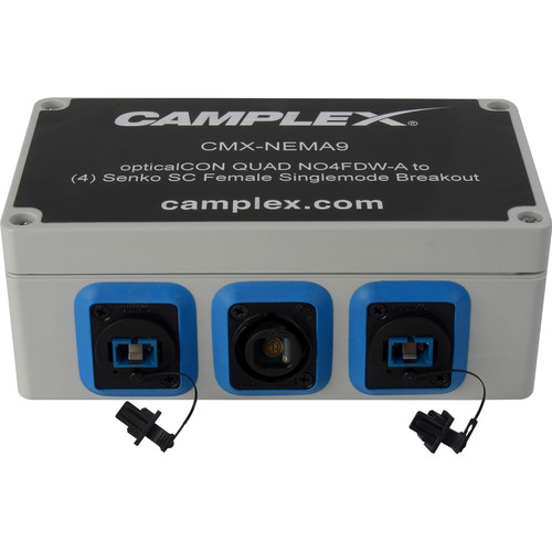 Camplex NO4FDW-A OpticalCON QUAD to 4 SC Female Singlemode Breakout Adapter Box