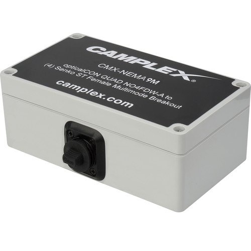 Camplex NO4FDW-A OpticalCON QUAD to 4 SC Female Multimode Breakout Adapter Box