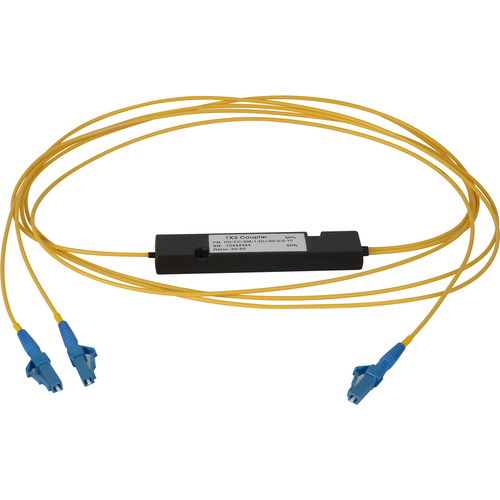 Camplex Singlemode LC Fiber Optic 1x2 Splitter Cable (2')