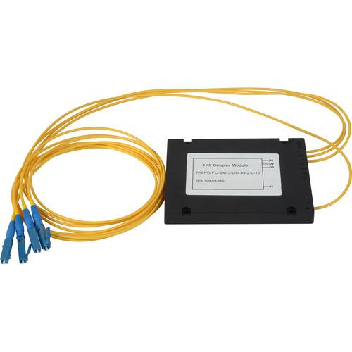 Camplex Singlemode LC Fiber Optic 1x3 Splitter Cable (2')