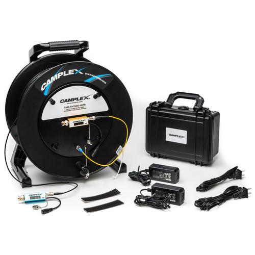 Camplex TACNGO with 3G-SDI Fiber Optic Converter/Extender & 1000' Tactical Fiber Cable on Reel