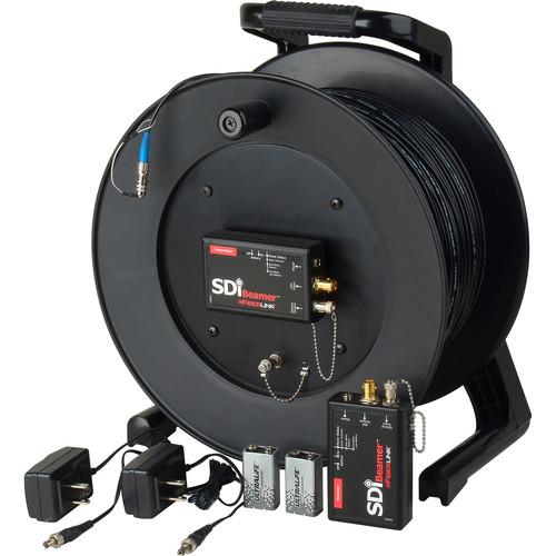 Camplex Tac-N-Go 3G-SDI Fiber Optic Extender Set with 1000' Tactical Fiber Cable Reel