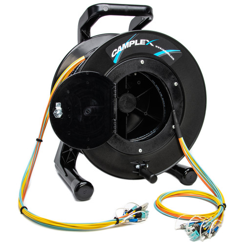 Camplex TAC-ALL 12-Channel ST Single Mode LC Multimode Fiber Optic Tactical Snake on Reel (500')