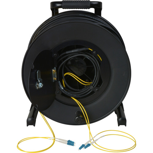 Camplex 2-Channel Fiber Optic Tactical Cable Reel with LC Connectors (750')