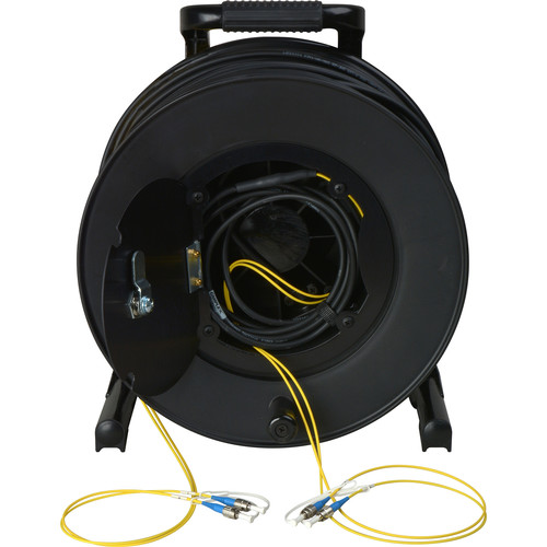 Camplex 2-Channel Fiber Optic Tactical Cable Reel with ST Connectors (250')