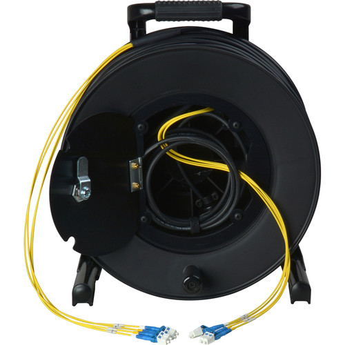 Camplex 4-Channel Fiber Optic Tactical Cable Reel with LC Connectors (750')