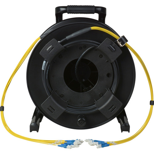 Camplex 8-Channel Fiber Optic Tactical Cable Reel with LC Connectors (250')
