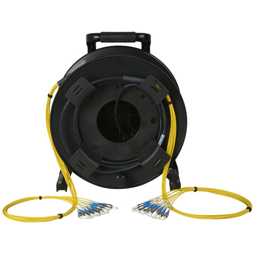 Camplex 8-Channel Fiber Optic Tactical Cable Reel with ST Connectors (2000')