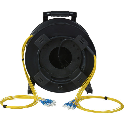 Camplex 12-Channel Fiber Optic Tactical Cable Reel with LC Connectors (250')