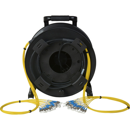Camplex 12-Channel Fiber Optic Tactical Cable Reel with ST Connectors (500')