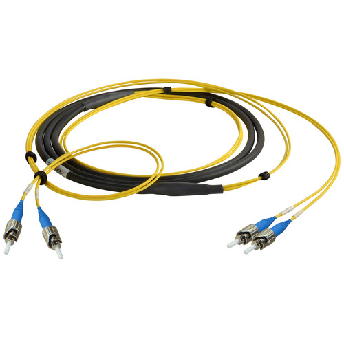 Camplex Two-Channel ST Single-Mode Fiber Optic Tactical Snake (10')