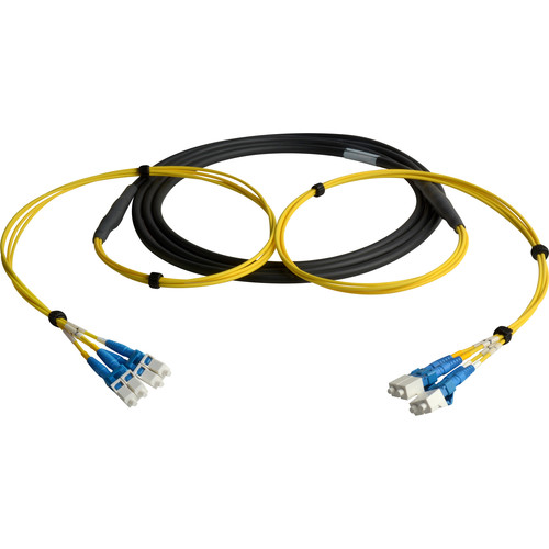 Camplex Four-Channel LC Single-Mode Fiber Optic Tactical Snake (25')