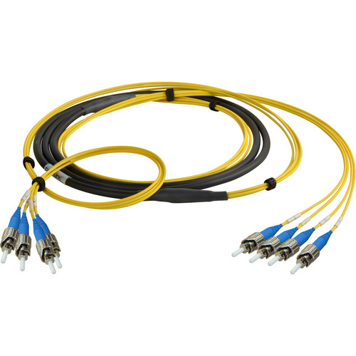 Camplex Four-Channel ST Single-Mode Fiber Optic Tactical Snake (100')