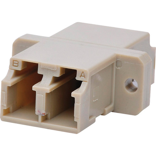 Camplex Multimode LC to LC Duplex Fiber Optic Coupler Adapter Bronze Sleeve with Flange